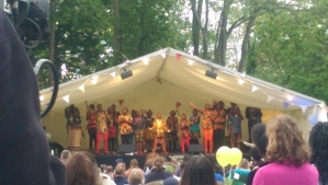 Watoto Children's Choir at the Tea Tent