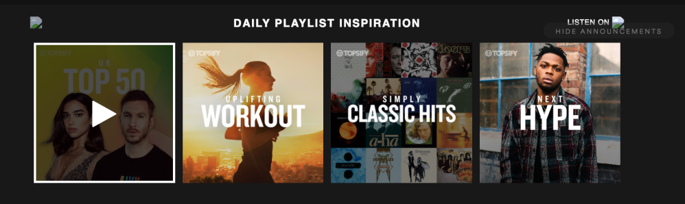 Spotify banner ad